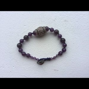 Jewelry - Hand made amethyst bracelet